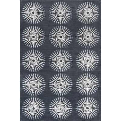 Willow Hand Tufted Wool Dark Gray/Light Gray Area Rug Rug Size: 5 x 76