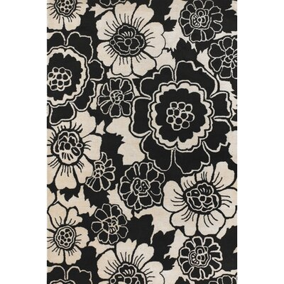 Locke Black/Gray Area Rug Rug Size: 79 x 106