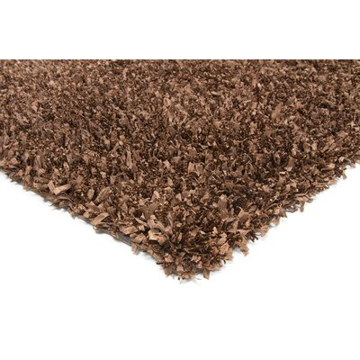 Lydia Dark Brown Area Rug Rug Size: 79 x 106