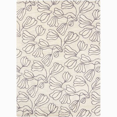 Jonas White Floral Area Rug Rug Size: Rectangle 5 x 76