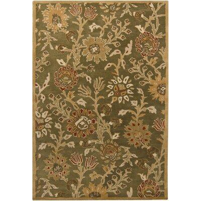Medford Green/Beige Floral Area Rug Rug Size: 79 x 106