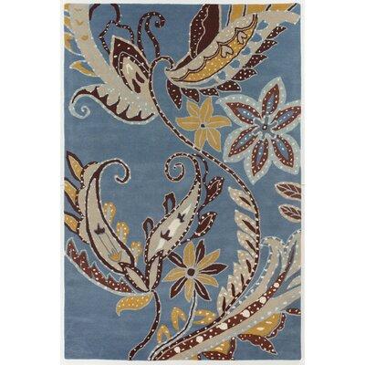 Medford Leaves Swirls Area Rug Rug Size: 5 x 76