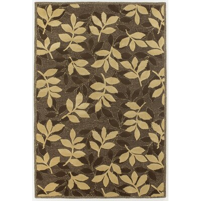Medford Chocolate/Beige Leaves Area Rug Rug Size: 5 x 76