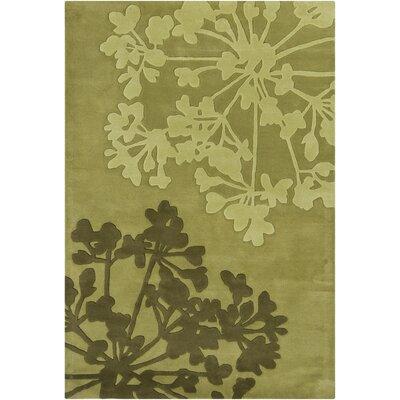 Medford Green/Tan Area Rug Rug Size: 5 x 76