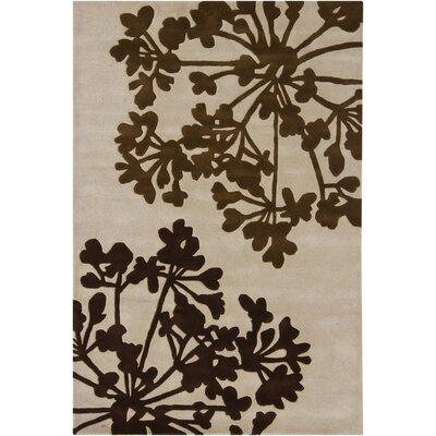 Medford Brown/Beige Area Rug Rug Size: 5 x 76