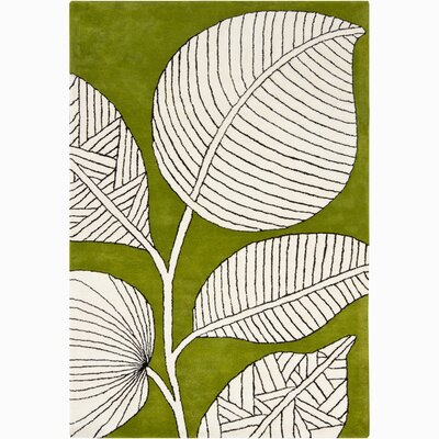 Medford Green & Ivory Floral Area Rug Rug Size: 5 x 76