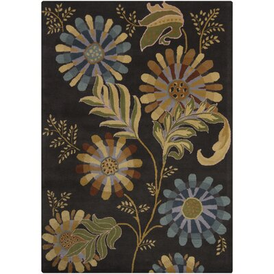 Jonas Dark Brown Area Rug Rug Size: 9 x 13