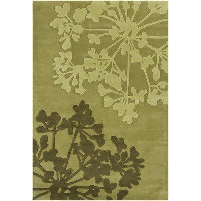 Medford Mocha Floral Area Rug Rug Size: 79 x 106