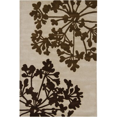 Medford Beige Floral Area Rug Rug Size: 79 x 106