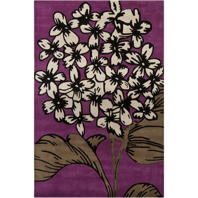 Medford Floral Tufted Purple Area Rug Rug Size: 79 x 106