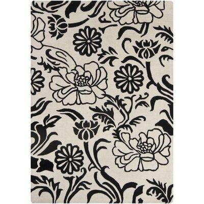 Medford Beige/Black Area Rug Rug Size: 5 x 7