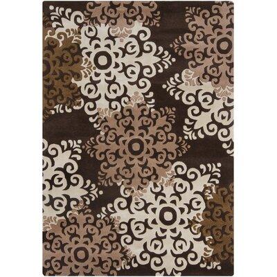 Medford Brown/Beige Geometric Area Rug Rug Size: 5 x 7