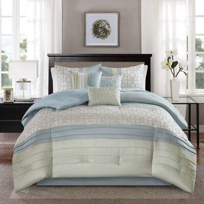 Colden 7 Piece Comforter Set Size: Queen, Color: Teal