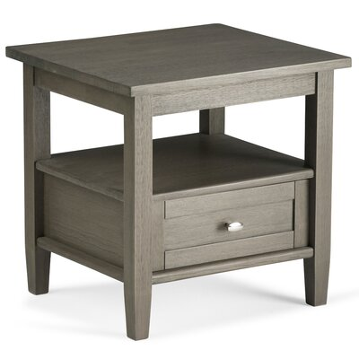 Bruno 1 Drawer End Table Finish: Farmhouse Gray