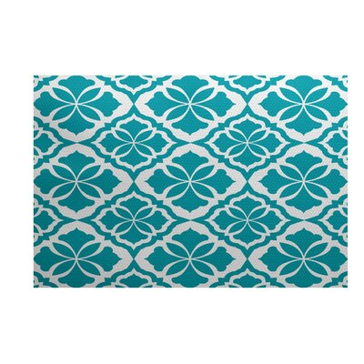 Selina Turquoise Indoor/Outdoor Area Rug Rug Size: 5 x 7