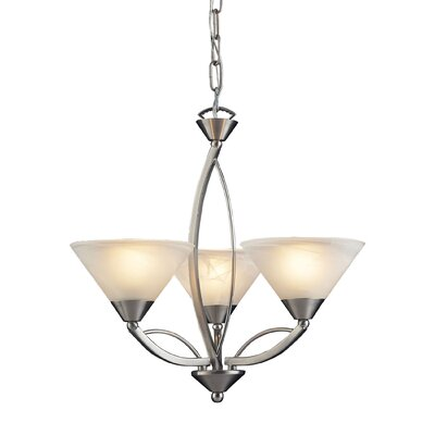 Hagins 3-Light Shaded Chandelier