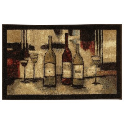 Ayers Village Wine and Glasses Area Rug Rug Size: 26 x 310