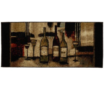 Ayers Village Wine and Glasses Area Rug Rug Size: 18 x 39
