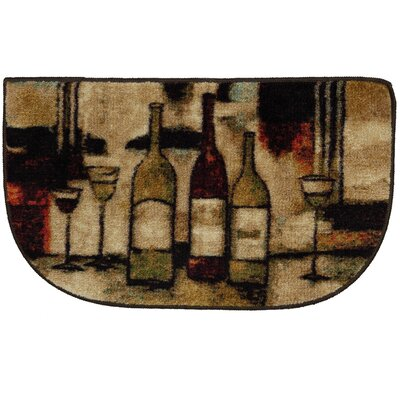 Ayers Village Wine and Glasses Area Rug Rug Size: Slice 16 x 26