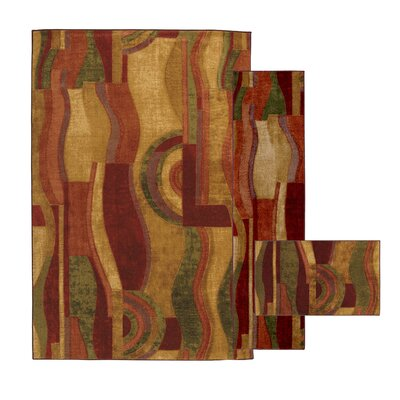 Ayers Village Picasso Wine Area Rug Rug Size: 8 x 118