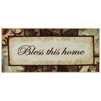 Ayers Village Rules to Live By Kaleidoscope Mat Mat Size: 18 x 39