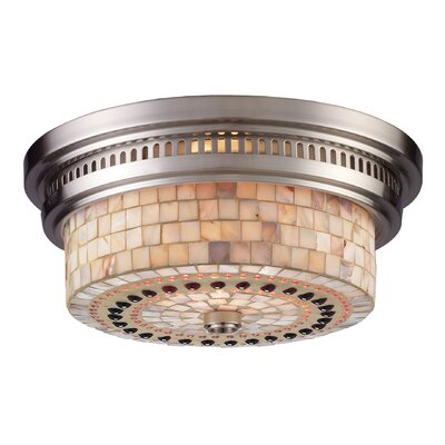 Jarrodd 2-Light Flush Mount Finish: Satin Nickel