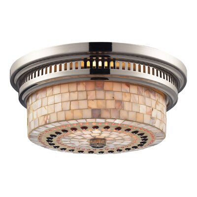 Roselawn 2-Light Flush Mount Finish: Polished Nickel