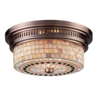 Jarrodd 2-Light Flush Mount Finish: Antique Copper