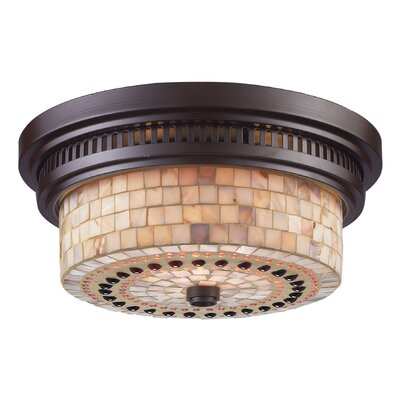 Jarrodd 2-Light Flush Mount Finish: Oiled Bronze