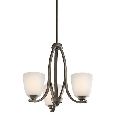 Surrey 3-Light Shaded Chandelier Finish: Olde Bronze