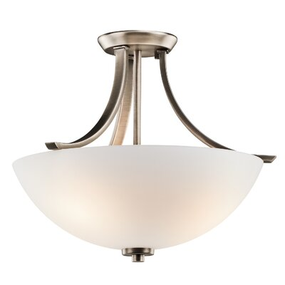 Surrey 3-Light Semi Flush Mount Finish: Brushed Pewter