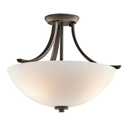 Surrey 3-Light Semi Flush Mount Finish: Olde Bronze