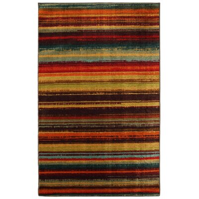 Ayers Village Brown/Yellow Area Rug Rug Size: 6 x 9