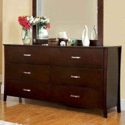 Beauregard 6 Drawer Double Dresser