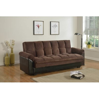 Aranha Convertible Sofa Upholstery: Chocolate