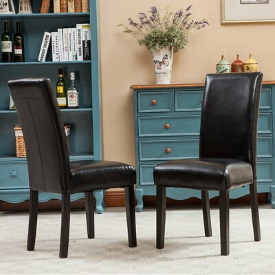 Aranson Parsons Chair Upholstery: Black