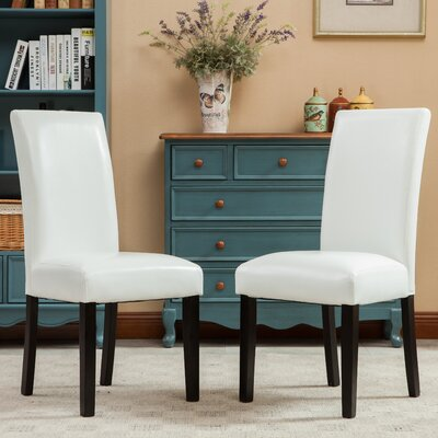 Aranson Parsons Chair Upholstery: White
