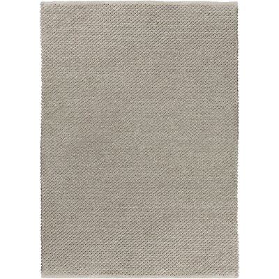 Strafford Hand-Woven Light Gray Indoor/Outdoor Area Rug Rug size: Rectangle 5 x 76