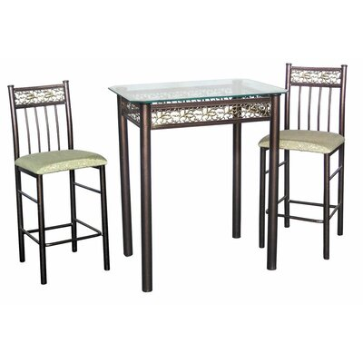 Argent 3 Piece Pub Table Set