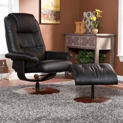 Arkin Standard Size Recliner Upholstery: Black