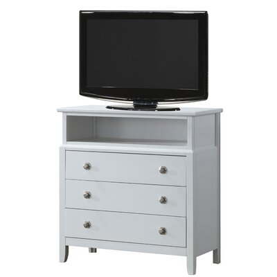 Barker Ridge 3 Drawer Media Chest Finish: White