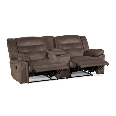 Serta Upholstery Arnold Reclining Sofa Upholstery: Tombstone Cranberry