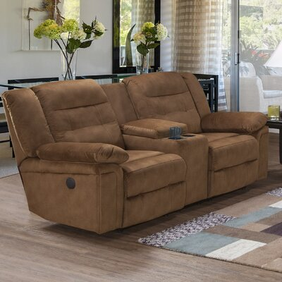 Serta Upholstery Arnold Reclining Sofa Upholstery: Tombstone Tobacco