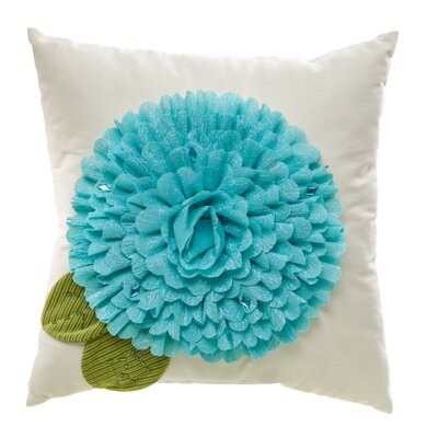 Arquette Bloom Indoor/Outdoor Throw Pillow Color: Blue