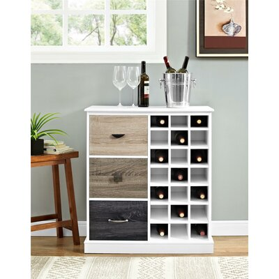 Snowy Mountain 21 Bottle Floor Wine Cabinet