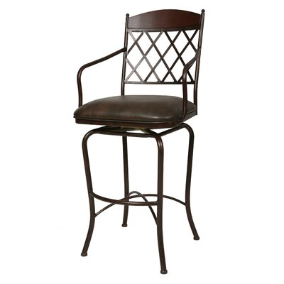 Campos 26 Swivel Bar Stool Color: Florentine Coffee
