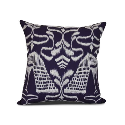 Selina Crown Outdoor Throw Pillow Size: 18 H x 18 W x 3 D, Color: Purple