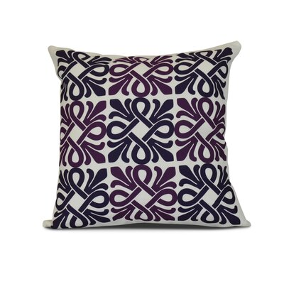 Temple Terrace Square Geometric Print Throw Pillow Size: 26 H x 26 W x 3 D, Color: Purple