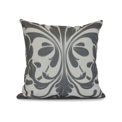 Harmen Print Throw Pillow Size: 16 H x 16 W x 3 D, Color: Gray
