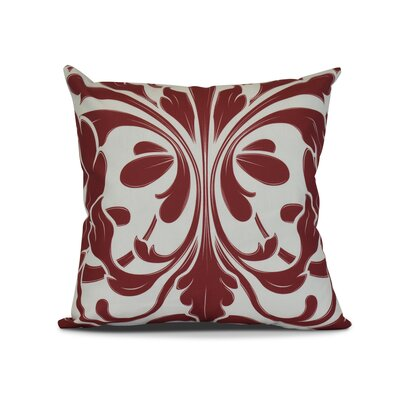 Harmen Outdoor Throw Pillow Size: 16 H x 16 W x 3 D, Color: Red